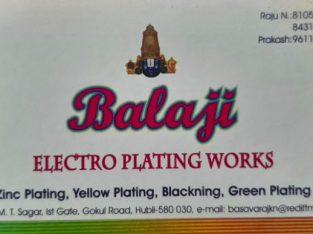 BALAJI ELECTROPLATING WORKS HUBLI